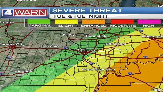Snow melts today, strong storms possible late Tuesday