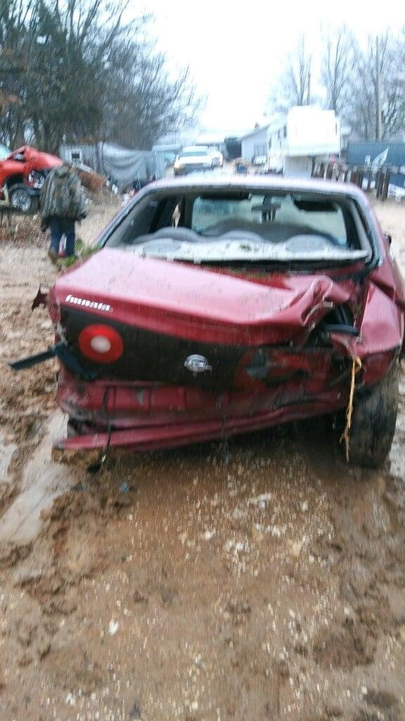 Samantha Casper's 2005 Chevrolet Impala was totaled when it slid off Highway 67 near Sunnyside Road on Easter Sunday.