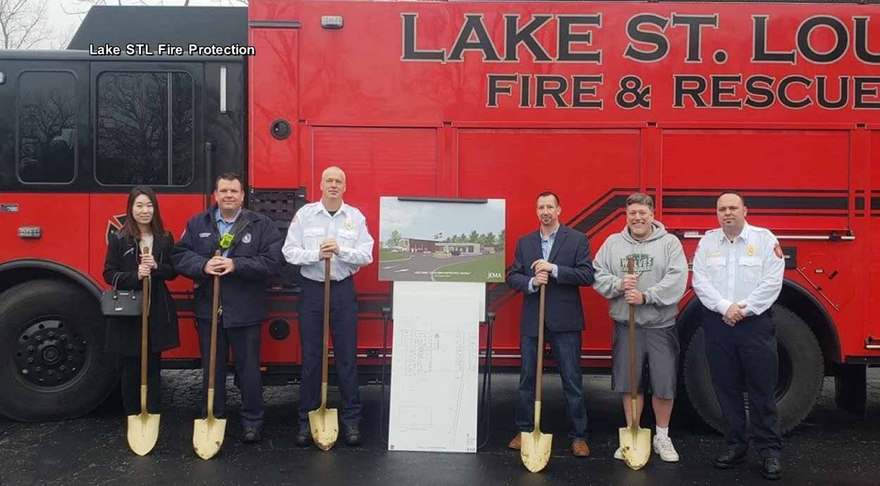 Lake St. Louis officials broke ground on a new centrally-located firehouse Tuesday. Credit: Lake St. Louis Fire Protection District