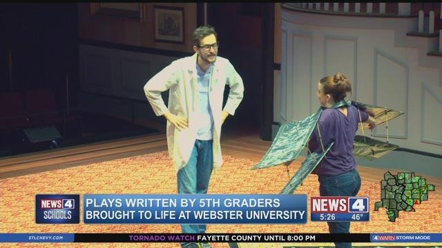 Plays written by students at Dewey Elementary School were recently played on stage at Webster University