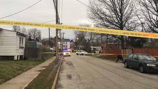 One victim was killed and another wounded in a shooting near the border that separates St. Louis City and Bellefontaine Neighbors Tuesday. Credit: KMOV