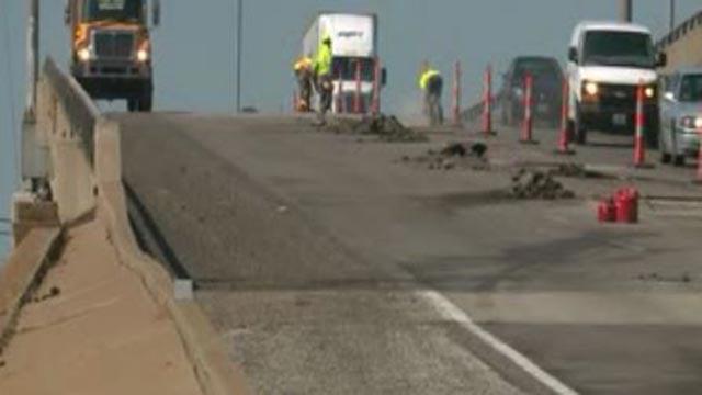 Crews working on I-64 (Credit: KMOV)