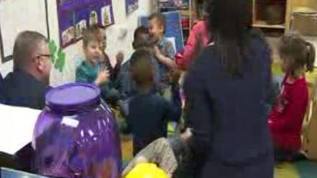 Congressman Mike Bost at the Head Start in Granite Tuesday on Tuesday (Credit: KMOV)