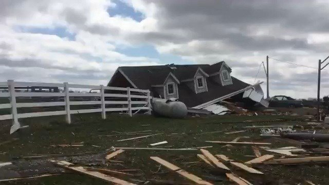 Tuesday's storms spurred two confirmed tornadoes in Fountain and Tippecanoe counties