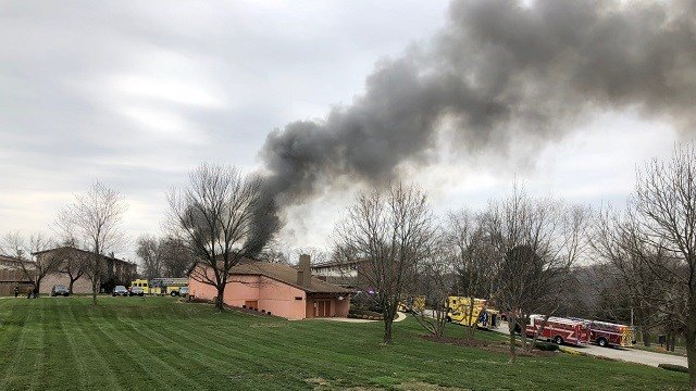One person is dead after an apartment fire broke out in Ellisville late Monday morning. (Credit: Robert Ebenrick Jr.)