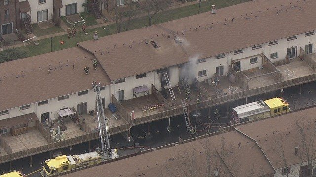 One person is dead after an apartment fire broke out in Ellisville late Monday morning. (Credit: KMOV)