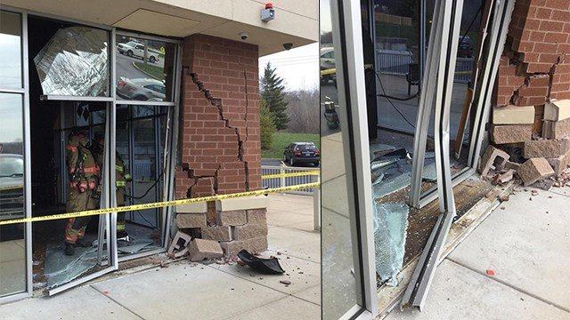 A truck slammed into a Jefferson County restaurant Monday morning. (Credit: Rock Community Fire Protection District)