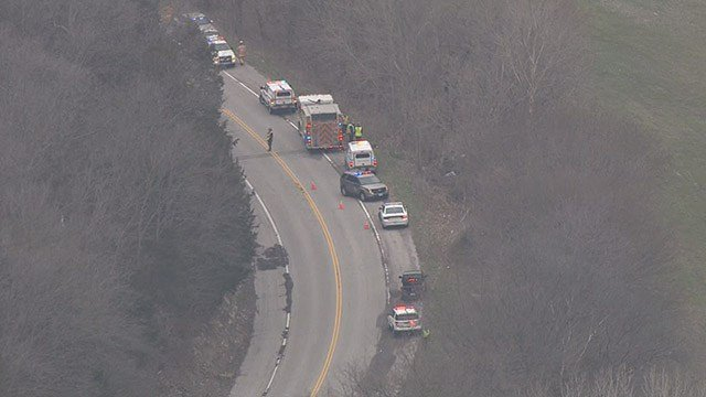 Emergency crews are on the scene of a fatal accident in South County that occurred Tuesday morning. (Credit: KMOV)
