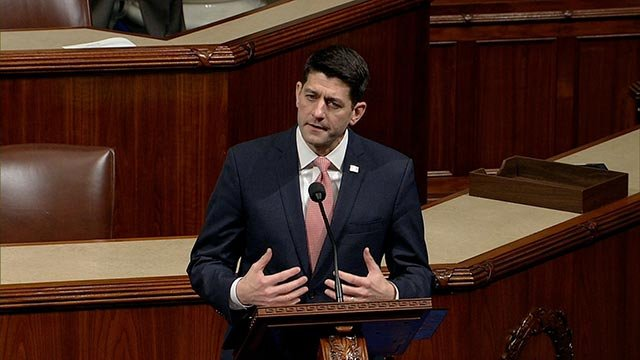 Paul Ryan speaks on the House floor. (Credit: House TV)