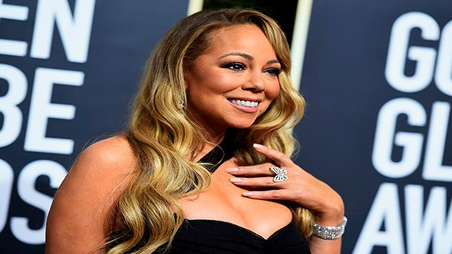 Mariah Carey arrives at the 75th annual Golden Globe Awards at the Beverly Hilton Hotel on Sunday, Jan. 7, 2018, in Beverly Hills, Calif. (Credit: Photo by Jordan Strauss/Invision/AP)