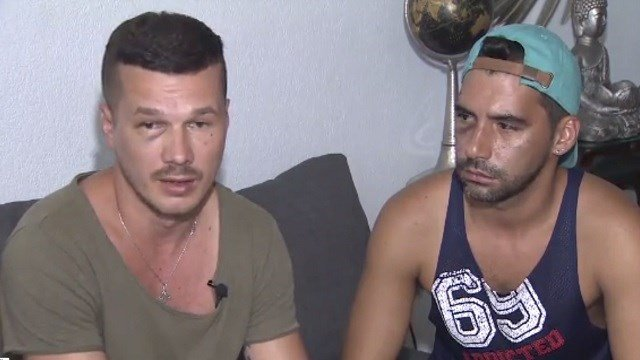 Four men were arrested after attacking a gay couple in Miami. (WSVN)
