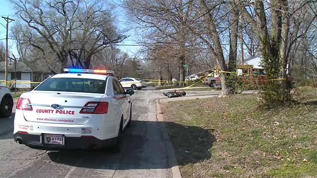 Police said a woman and 4-year-old child on a moped were hit by a car in North County Thursday afternoon. Credit: KMOV