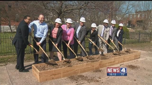 Community leaders broke ground on a new project in the Gravois Park-Dutchtown area of South City on Thursday. Credit: KMOV