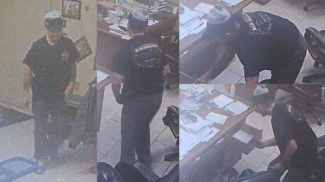 Surveillance photos of a suspected burglar (Credit: Monroe County Sheriff's Department)