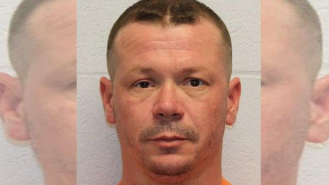 """Vincent Sansone, 39, is accused of stabbing a person with scissors (Credit: O""""Fallon, Mo. Police)"""