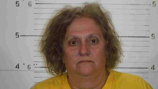 St. Clair County deputies say 59-year-old Cynthia Dori was drunk when she drove her Jeep through yards along Saxton Road in Millstadt. Credit: St. Clair County Sheriff