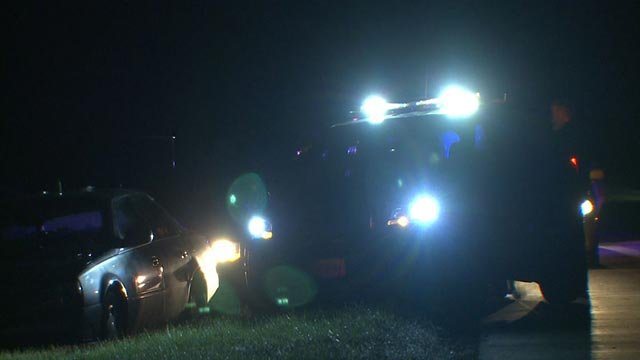 The end of a bi-state chase early Tuesday (Credit: KMOV)