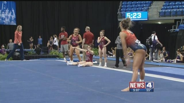 NCAA Women's Gymnastics Championship. Credit: KMOV