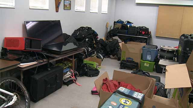 Police say the hundreds, if not thousands of items were all stolen from cars in the Downtown and Downtown West neighborhoods. Credit: KMOV