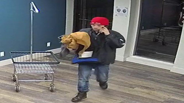 Maryland Heights Police Department is asking for the public's assistance identifying the man shown stealing from the laundry room.  (Credit: Maryland Heights PD)