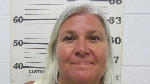 Lois Riess mugshot, taken on April 19, 2018 SOUTH PADRE ISLAND (TEXAS) POLICE