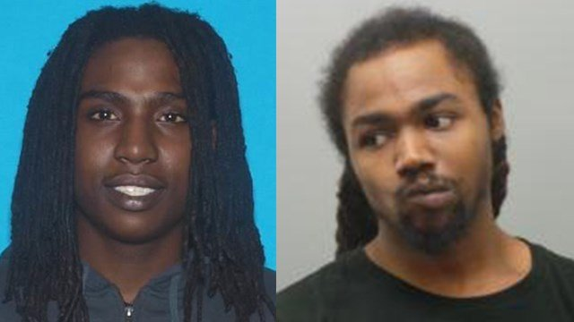Collinsville police are searching for Phillip Campbell, Jr. (left) and Abias Crosby (right) after an armed robbery April 12. (Credit: Collinsville Police Department)