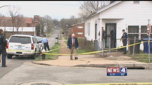 A man was found shot and killed inside his home in North St. Louis Sunday (Credit: KMOV)