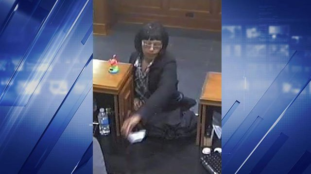 Police received a call that a woman robbed the First State Bank on N 5th Street at 10:15 a.m. Monday in St. Charles. (Credit: St. Charles PD)