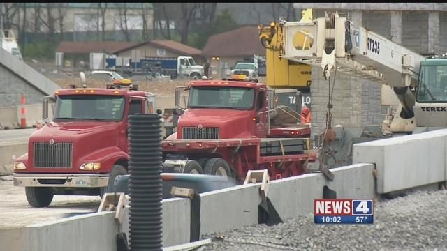 Construction crews on Highway 61 in St. Charles County. Credit: KMOV