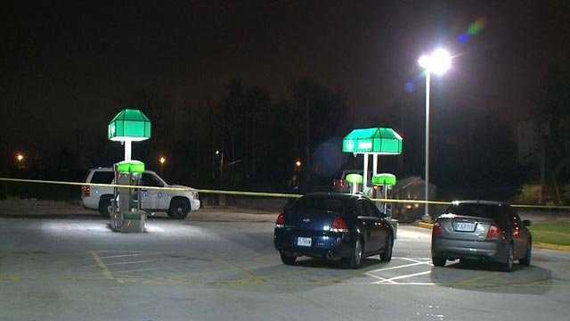 Police investigating after shots were fired at officers (Credit: KMOV)