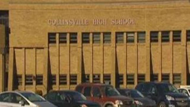 Outside of Collinsville High School (Credit: KMOV)