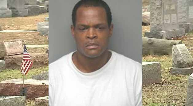 Alzado Harris is charged with institutional vandalism.  He is accused of toppling more than 120 gravestones at Chesed Shel Emeth Cemetery in February 2017.