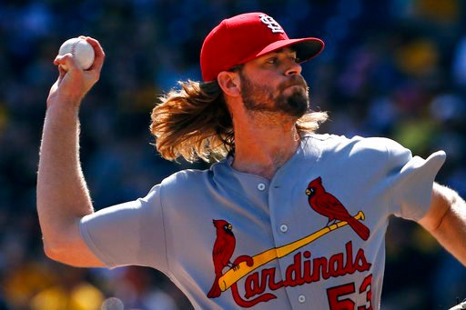 St. Louis Cardinals starting pitcher John Gant delivers during the first inning of a baseball game against the Pittsburgh Pirates, Sunday, Sept. 24, 2017 in Pittsburgh. (AP Photo/Gene J. Puskar)