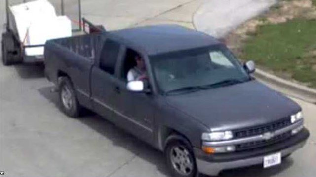 Anyone with information on the truck or suspects pictured are asked to contact the Caseyville Police Department ar 618-344-2151. (Credit: Caseyville PD)