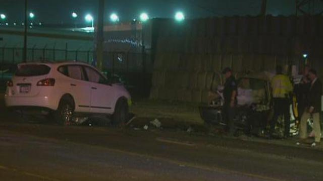 A woman was killed and a child was injured in a head-on crash in the 8200 block of Hall Street (Credit: KMOV)