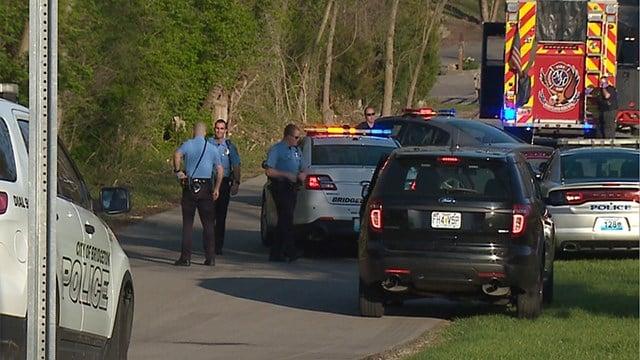 Investigators process the scene where one person was shot, killed in Bridgeton (Credit: KMOV)