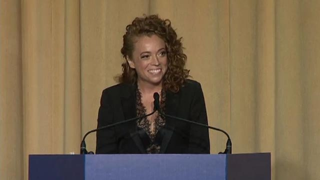 Michelle Wolf at the White House Correspondents' Association's annual dinner (Credit: CNN)