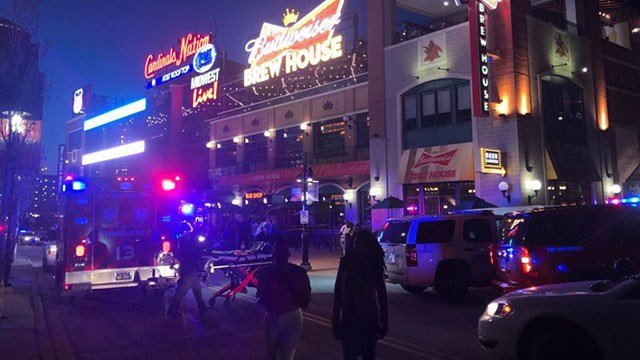 Police are investigating after two were shot inside Ballpark Village in downtown St. Louis ( Credit:KMOV)