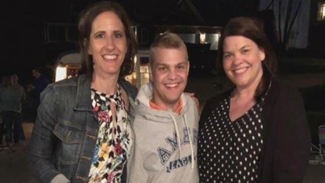 Brendan Woods helped celebrate donor Lesley Alexander's birthday (Credit: Woods Family)
