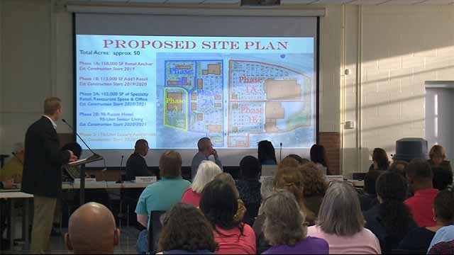 A redevelopment plan for Olive near I-170 was the focus of a meeting among homeowners in University City Monday night. Credit: KMOV