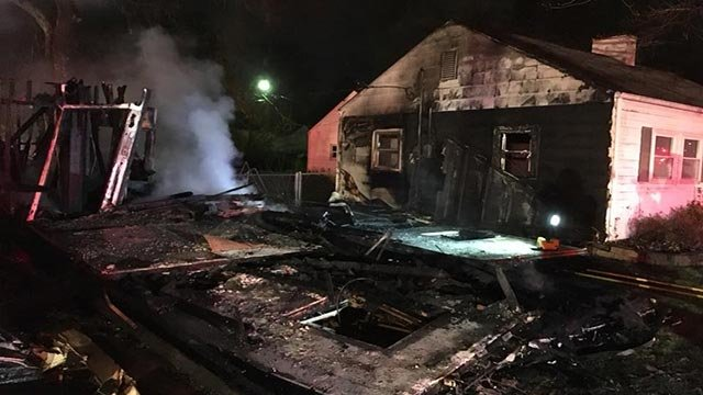 House explodes and burns in Belleville