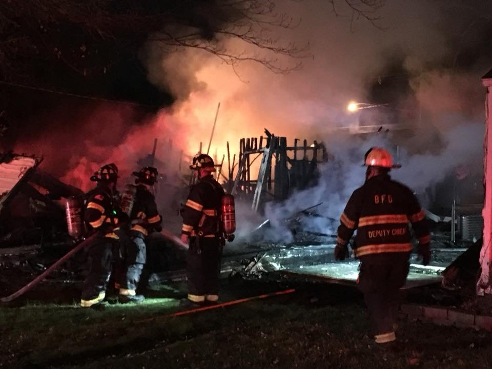 Belleville explosion, fire level vacant home