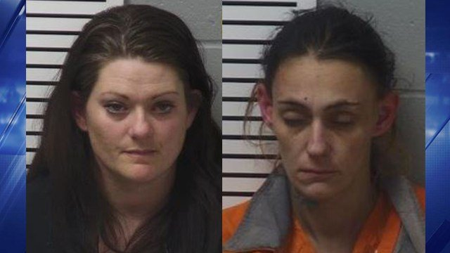 Amber Brazell, 35, and Elizabeth Paulsen, 32, were bopth charged with second-degree burglary in Lincoln Tuesday. (Credit: Lincoln County Sheriff's Office)