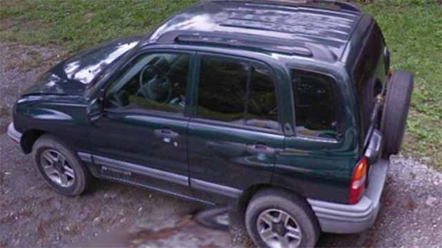 Police believe she was driving a 2002 green Chevrolet Tracker with Illinois license plate number A813355. The car has front-end damage and a spare wheel on the back. Credit: O'Fallon PD