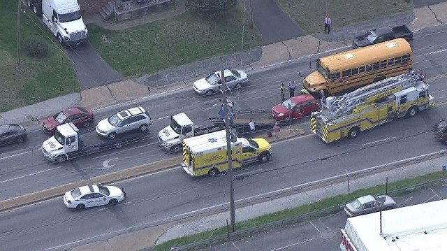 Emergency crews responded to an accident that occurred just after 2:30 p.m. Wednesday on Mackenzie near Gravois. (Credit: KMOV)