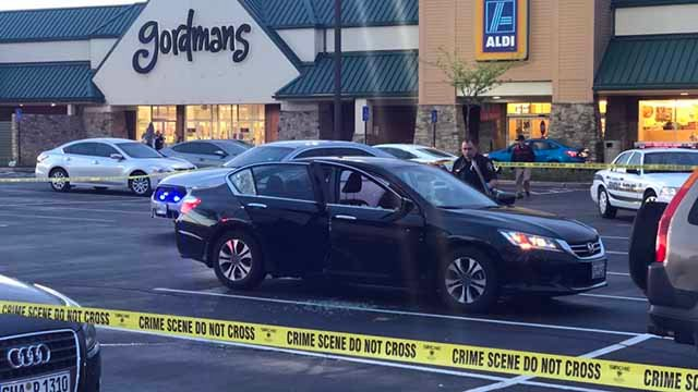 Police are investigating a shooting that happened in the parking lot of a shopping center in St. Charles Thursday evening. Credit: KMOV