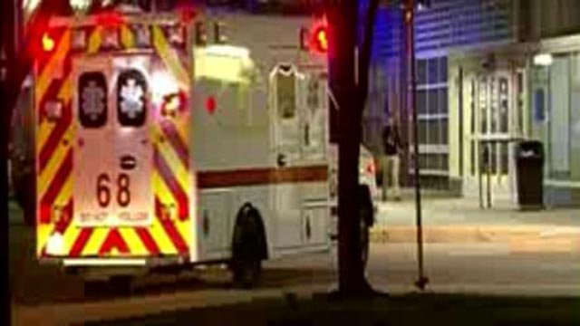 An ambulance in Chicago after an ATF agent was shot Friday (Credit: WFLD/NNS)