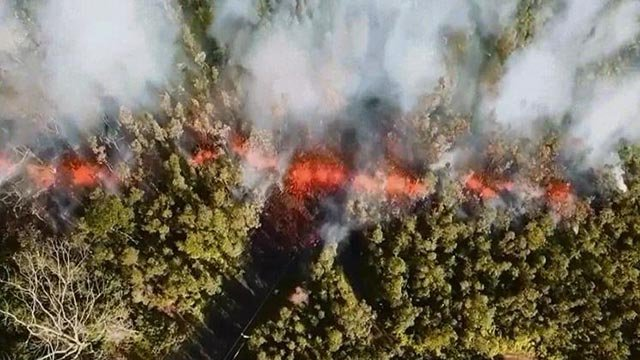 Lava from the Kilauea Volcano in Hawaii (Credit: Jeremiah Osuna / CBS Newspath)