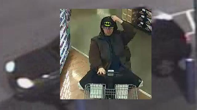 Officials in Madison County are searching for the thief whole stole $3K worth of goods from Walmart on April 26 (Credit: Madison County Sheriff)
