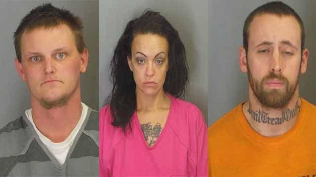Brantz Heisler, Jessica Dora and Garrett Draper are accused of fatally shooting Geoffrey Brown, in De Soto. Credit: De Soto PD
